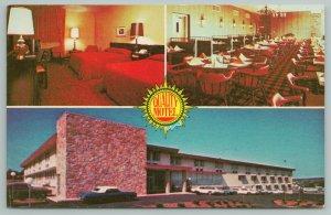Kansas City Missouri~Quality Motel East Interior~Vintage Postcard