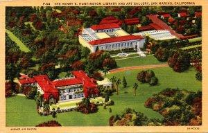 California San Marino The Henry E Huntington Library & Art Gallery Aerial Vie...