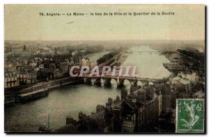 Angers Old Postcard The Maine The lower town and the district of Doufre