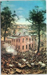 Battle of Atlanta - Cyclorama painting, Hurt House, Manigaults Brigade
