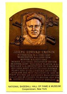 NY - Cooperstown. National Baseball Hall of Fame, Joseph E. Cronin