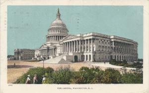 The Capitol, Washington, D.C. early postcard, Used in 1908