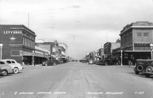 Douglas Arizona~9th Avenue North~Levy Bros~Kress~1944 RPPC Real Photo Postcard