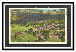 New Hampshire, White Mountains - Aerial View Mt View House - Mirror Lake