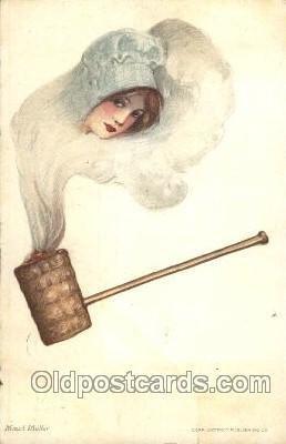 Artist Signed Samuel Schmucker 1912 big crease bottom edge, light corner wear...