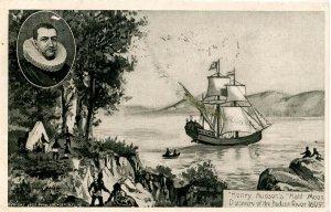 NY - Hudson River Valley. Henry Hudson and Half Moon Ship