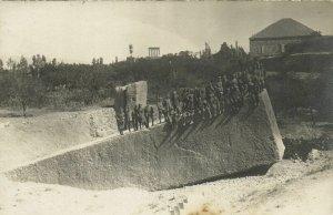 PC CPA SYRIA, BALBEK, SOLDIERS, Vintage REAL PHOTO Postcard (b16557)