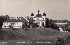Stadl Paura Dreifaltigkeitskirche Austria Real Photo Postcard