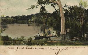 brazil, MANAOS MANAUS, Igarapé da Cachoeirinha (1906) Postcard