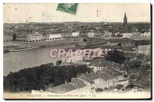 Postcard Old Toulouse Panorama of the City and the Quays