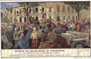 Liebig Trade Card S1551 History Grand Duchy Luxembourg No 6 La liberation de ...