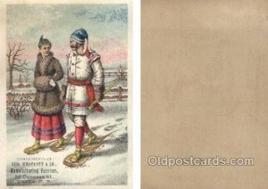 Geo. Westcott & Co. Utica, NY, USA Trade Card Approx Size Inches = 3.75 x 5.2...