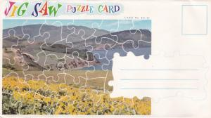 Puzzle Postcard , B.C. , Canada , 50-60s ; Lake view