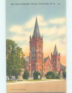 Unused Linen CHURCH SCENE Fayetteville North Carolina NC A7991