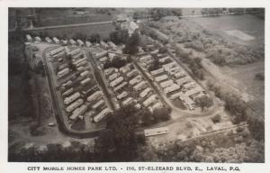 RP: LAVAL , P.Q., Canada, 30-40s ; City Mobile Homes Park, aerial view