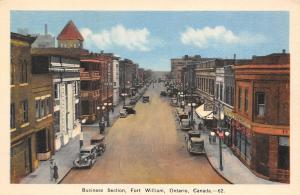 Fort William Ontario~Business Section~Cafe~Avenue Hotel~Clothing~1920s Cars~PC
