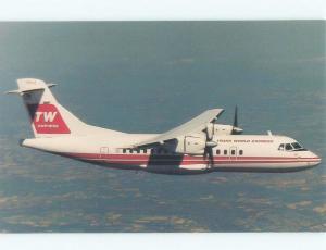 Pre-1980 TRANS WORLD AIRLINES TWA EXPRESS AIRPLANE St. Louis MO E5817