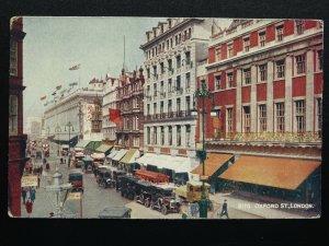 London OXFORD STREET c1930s Postcard by J. Salmon 8170