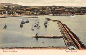 Fayal Acores Portugal Porto de Abrigo Scenic View Antique Postcard J63529