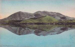 California Lake County Mount Konocti Mirrored In Clear Lake Lakeport  Handcol...