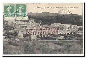 Creuse La Courtine Old Postcard barracks and camps of & # 39artillerie