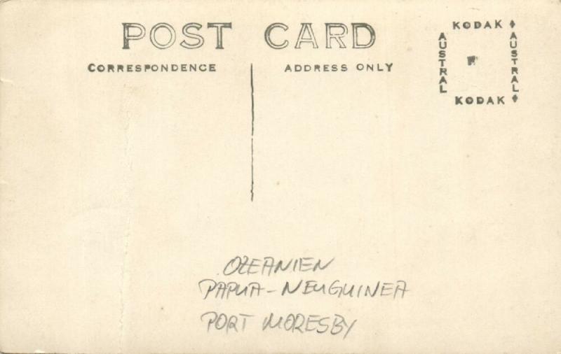 papua new guinea, PORT MORESBY, Harbour Scene (1920s) RPPC
