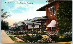 Phoenix, Arizona Postcard North First Avenue Residential / Houses 1910s Unused