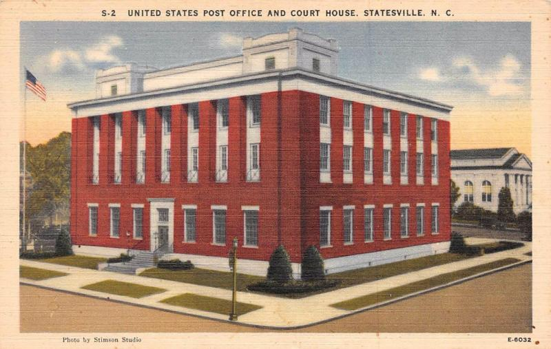 STATESVILLE, NC North Carolina COURT HOUSE & Post Office