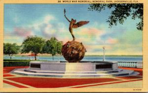 Florida Jacksonville Memorial Park World War Memorial Curteich