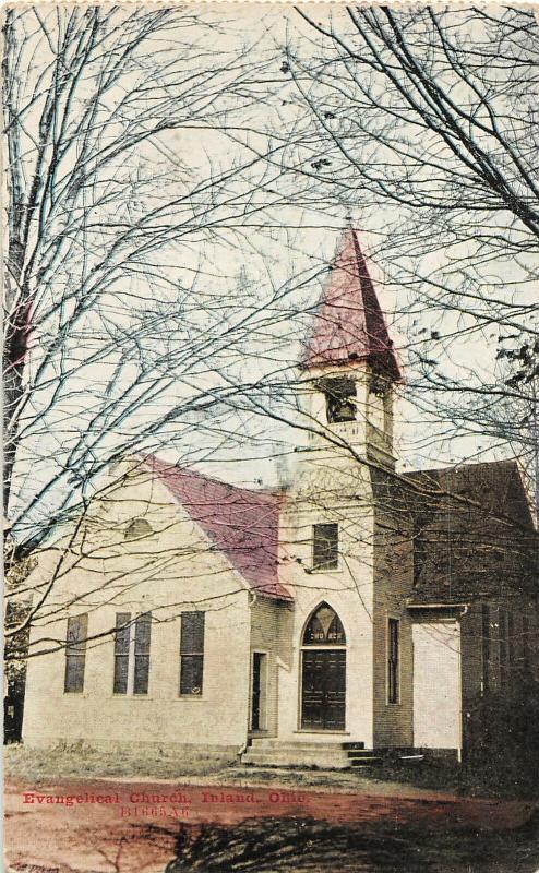 F27/ Greensburg Inland Ohio Postcard Evangelical Church Summit Co