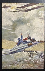 Mint Germany Color Picture Postcard PPC Fight In The Sky Against French Pilots