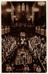 CPA King George VI the crowning procession BRITISH ROYALTY (679044)
