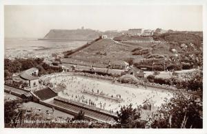 Vintage 1950s Real Photo Scarborough Postcard, North Bay Swimming Bathing Pool