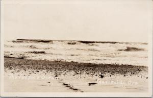 Garibaldi OR Oregon The Pacific Ocean PNW Real Photo Postcard F5