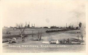 H69/ Mining Mines RPPC Postcard c1940s Eldorado Kansas Skelly Refinery 7