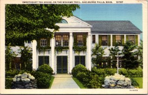 Sweetheart Tea House Shelburne Falls MA Mohawk Trail vtg Postcard