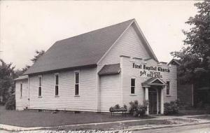 Michigan Clare First Baptist Church Real Photo RPPC