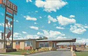 MEDICINE HAT, Alberta, Canada, 1940-60s; Flamingo Motel, Classic Car