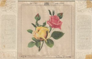SILK Patchwork, Roses, Needlework Series F #78, 1900-10s