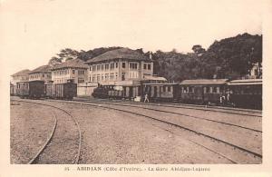 Ivory Coast Abidjan (Cote d'Ivoire) - Gare Abidjan-Lagune, Trains, Railway