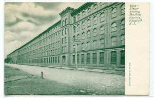 Singer Sewing Machine Factory Elizabeth New Jersey 1907c postcard