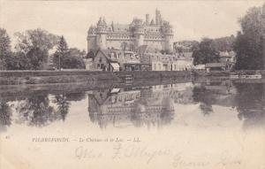 PIERREFONDS, Oise, France; Le Chateau et le Lac, 00-10s