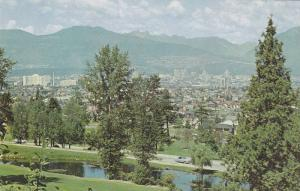 Panorama From Queen Elizabeth Park, Vancouver, B.C., Canada, 1940-1960s