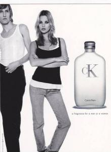 Calvin Klein , ONE a fragrance for a man or a woman , 1990s