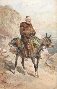 ·Frank Feller. .Life in Spain..A Beggar in Horseback  Tuck Oilette PCC# 9363