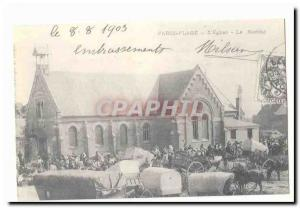 Paris Plage Old Postcard L & # 39eglise The market (reproduction)