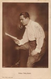 MAX NEUFELD AUSTRIAN FILM DIRECTOR-PHOTO POSTCARD 1920s postmark ESTONIA