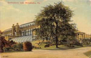 Philadelphia Pennsylvania~Horticultural Hall~Large Tree in Front~1911 Postcard