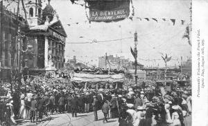 Portsmouth Hampshire UK~Welcome French Fleet~Sports Day~Parade Float~8-10-1905