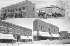 2153  Sask  Weyburn    Business Blocks,  The Toggery-W.Horne Gen Merch.- Stea...
